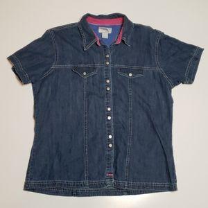 Wrangler Blues Short Sleeve Denim Shirt XL